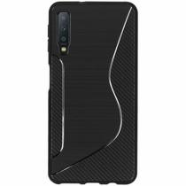 S-Line TPU Hülle Schwarz für das Samsung Galaxy A7 (2018)
