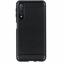 Brushed TPU Case Schwarz für das Samsung Galaxy A7 (2018)