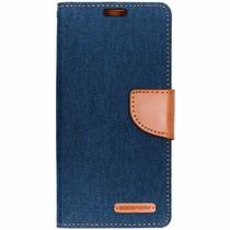 Mercury Goospery Canvas Diary Case Blau für das Samsung Galaxy S10
