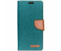 Mercury Goospery Canvas Diary Case Grün für das Samsung Galaxy S10