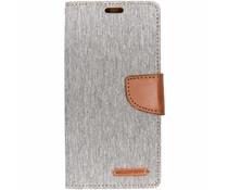 Mercury Goospery Canvas Diary Case Grau für das Samsung Galaxy S10