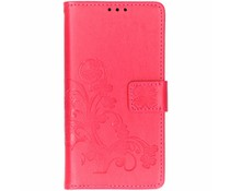 Kleeblumen Booktype Hülle Fuchsia für Samsung Galaxy S10E