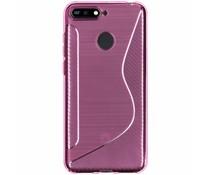 S-Line TPU Hülle Rosa für das Huawei Y6 (2018)