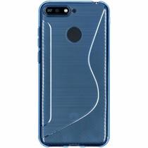 S-Line TPU Hülle Blau für das Huawei Y6 (2018)