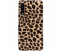 Leopard Design Hardcase-Hülle Braun für Galaxy A7 (2018)