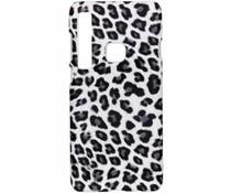 Leopard Design Hardcase-Hülle Weiß für Galaxy A9 (2018)