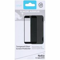 Azuri Tempered Glass Screen Protector Schwarz für Nokia 5.1 Plus