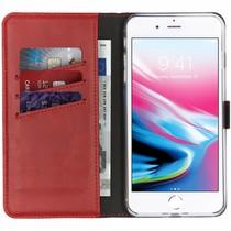 Selencia Echtleder Booktype Hülle Rot für iPhone 8 Plus / 7 Plus