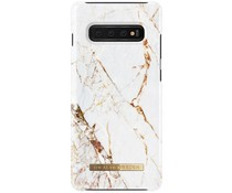 iDeal of Sweden Carrara Gold Fashion Back Case Samsung Galaxy S10 Plus