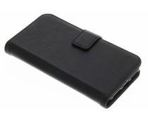 Schwarze Luxus Leder Booktype Hülle für iPhone 8 / 7