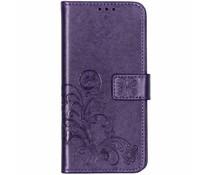 Kleeblumen Booktype Hülle Violett für das Sony Xperia 10