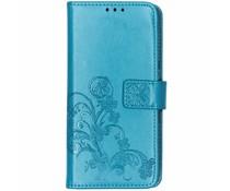 Kleeblumen Booktype Hülle Türkis für das Sony Xperia 10