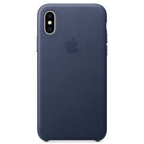 Apple Leder-Case Blau für das iPhone Xs / X