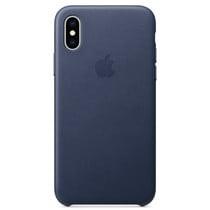 Apple Leder-Case Blau für das iPhone Xs / X