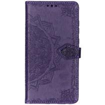 Mandala Booktype-Hülle Violett Motorola Moto G7 / G7 Plus