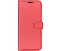 Litchi Buchtyp-Hülle Rot für das Asus ZenFone Max M2