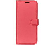 Litchi Booktype Hülle Rot für das Motorola Moto G7