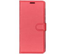 Litchi Booktype Hülle Rot für das Motorola Moto G7 Power