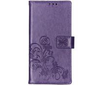 Kleeblumen Booktype Hülle Violett für Sony Xperia 10 Plus