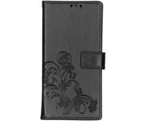 Kleeblumen Booktype Hülle Schwarz für Sony Xperia 10 Plus