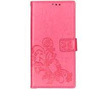 Kleeblumen Booktype Hülle Fuchsia für Sony Xperia 10 Plus