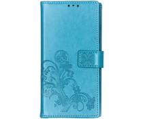 Kleeblumen Booktype Hülle Türkis für das Sony Xperia 10 Plus
