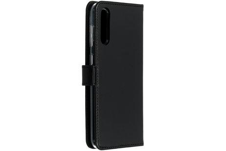 Selencia Echtleder Booktype Hülle Schwarz für das Samsung Galaxy A50 / A30s