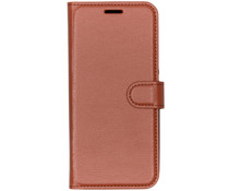Litchi Buchtyp-Hülle Braun für das Nokia 9 PureView