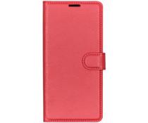 Litchi Booktype Hülle Rot für das OnePlus 7 Pro
