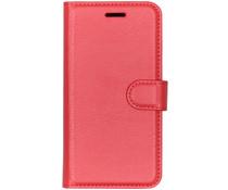 Litchi Booktype Hülle Rot für das Xiaomi Redmi Go