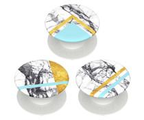 PopSockets PopMinis - Minis White Marble Glam