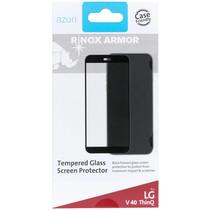 Azuri Tempered Glass Screen Protector Schwarz für LG V40 ThinQ