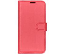 Litchi Buchtyp-Hülle Rot für das Xiaomi Mi Play