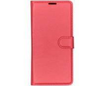 Litchi Buchtyp-Hülle Rot für das Xiaomi Redmi 7