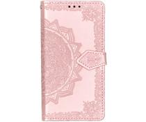 Mandala Booktype-Hülle Rosa für das Samsung Galaxy A40