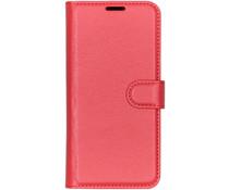 Litchi Booktype Hülle Rot für das Sony Xperia L3