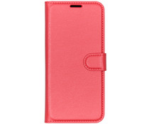 Litchi Booktype Hülle Rot für Huawei P Smart Plus (2019)