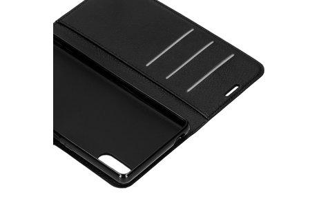 Sony Xperia L3 hülle - Litchi Booktype Hülle Schwarz