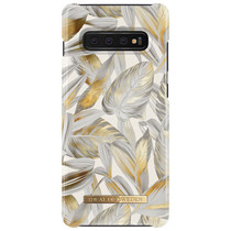 iDeal of Sweden Platinum Leaves Fashion Back Case Samsung Galaxy S10 Plus