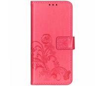 Kleeblumen Booktype Hülle Rosa für das Sony Xperia 10