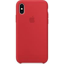 Apple Silikon-Case Rot für das iPhone Xs