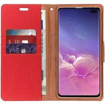 Mercury Goospery Canvas Diary Case Rot für das Samsung Galaxy S10 Plus