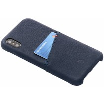 Decoded Leder Snap On Etui Blau für das iPhone X