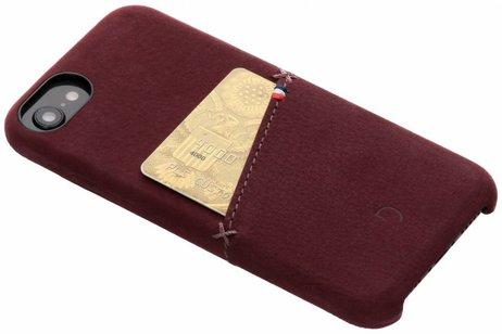 Decoded Leder Snap On Etui Rot für iPhone SE (2020) / 8 / 7 / 6(s)