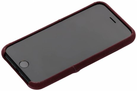 Decoded Leder Snap On Etui Rot für iPhone 8 / 7 / 6 / 6s