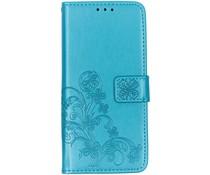 Kleeblumen Booktype Hülle Türkis für das Nokia 3.2