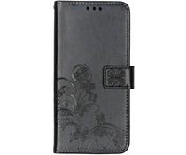Kleeblumen Booktype Hülle Schwarz für das Nokia 3.2