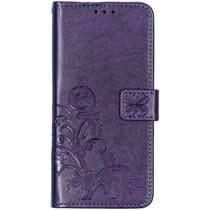 Kleeblumen Booktype Violett Hülle für das Nokia 3.2