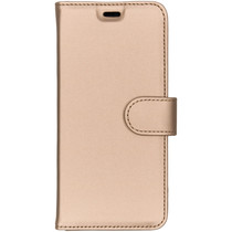 Accezz Goldfarbenes Wallet TPU Booklet Samsung Galaxy A8 (2018)