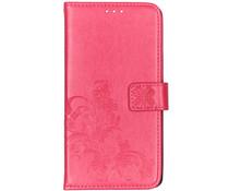 Kleeblumen Booktype Hülle Fuchsia für Samsung Galaxy A80